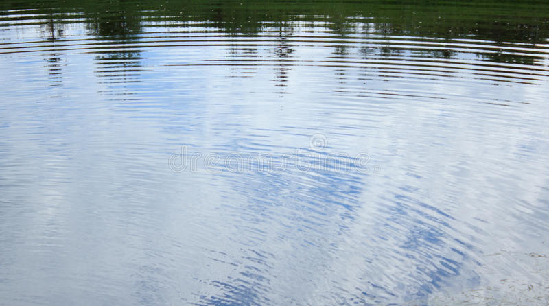 Ripples on water stock image