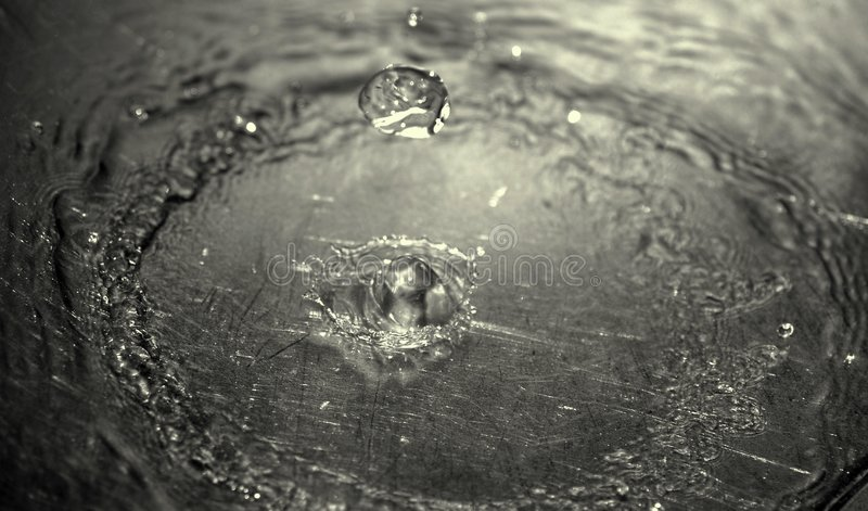 Ripples From Waterdrops Royalty Free Stock Photography