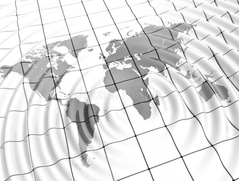Ripples world map vector illustration