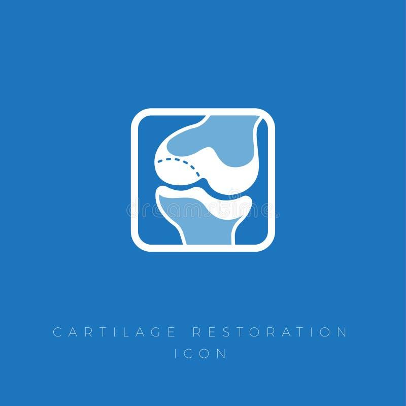 Ripristino di cartilagine Trattamento dell'articolazione e delle ossa royalty illustrazione gratis