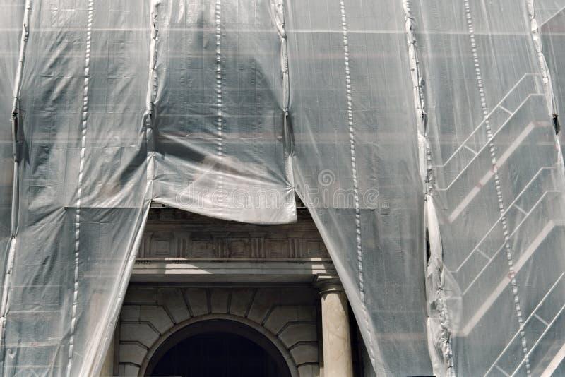 Ripristino di un monumento storico fotografia stock libera da diritti