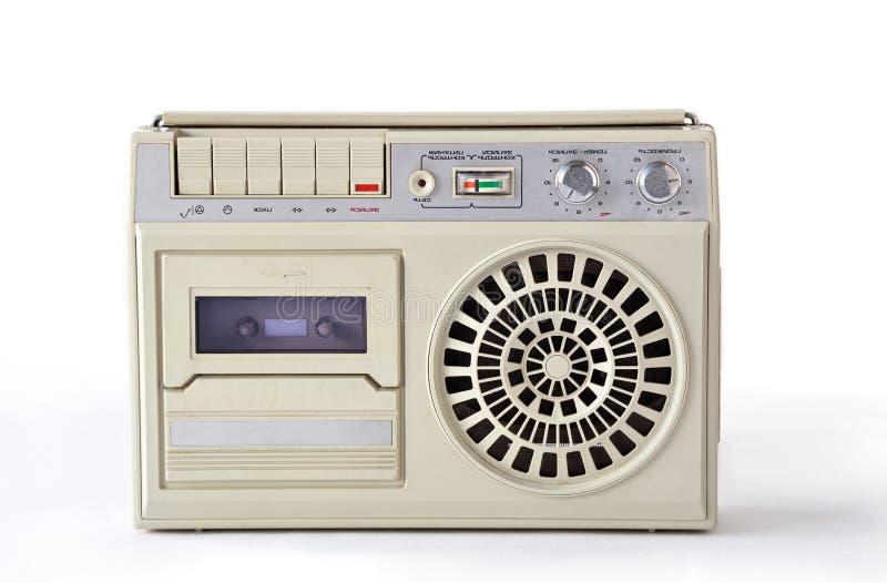 Riproduttore audio e registratore bianchi anziani dall'URSS fotografia stock libera da diritti
