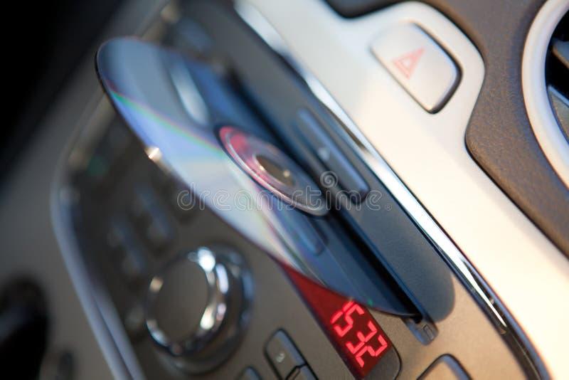Riproduttore di CD dell'audio dell'automobile immagine stock