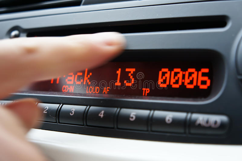 Riproduttore di CD dell'automobile immagini stock