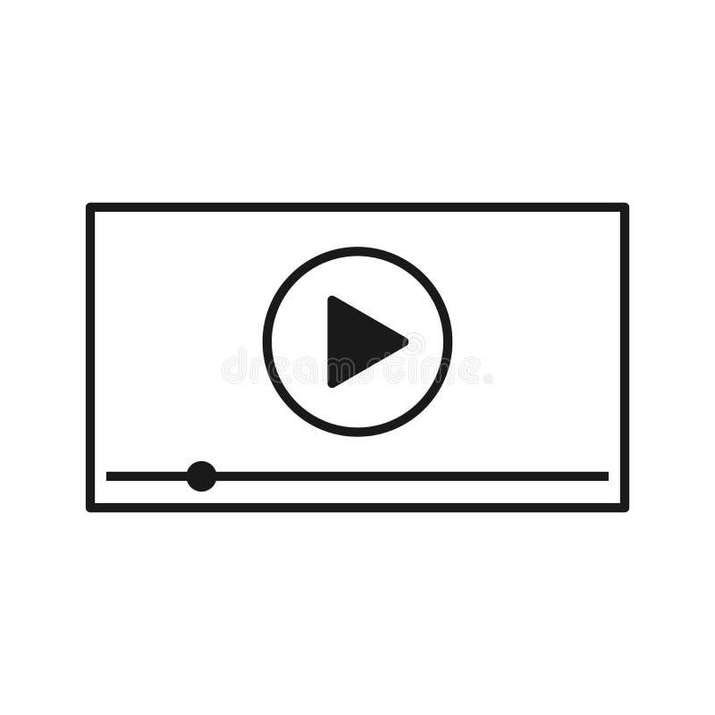 Riproduttore video per i apps del cellulare e di web Illustrazione di vettore royalty illustrazione gratis