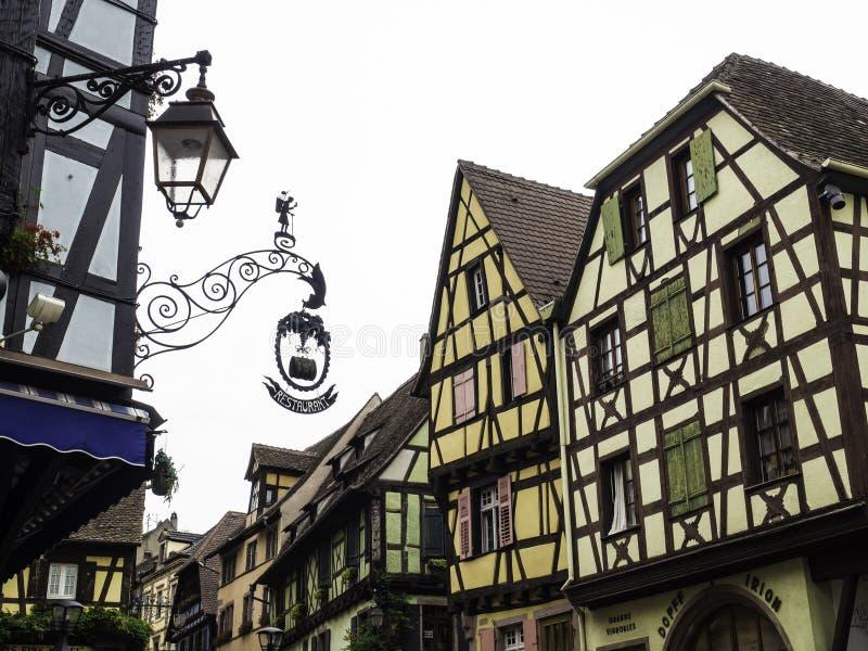 Riquewihr в эльзасской Франции стоковая фотография