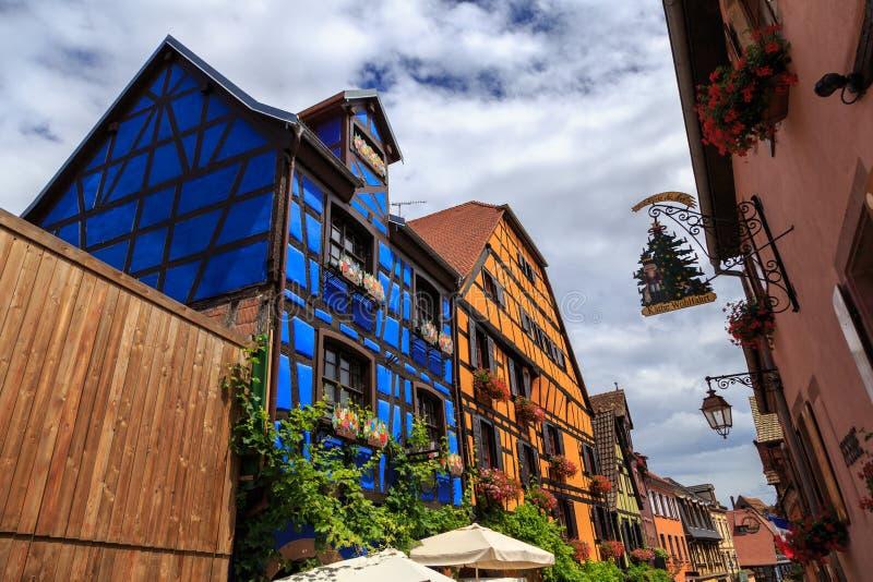 Riquewihr, Alsácia, França fotos de stock