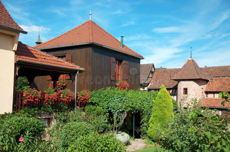 Download Riquewihr, Alsace stock photo. Image of garden, city - 27975556