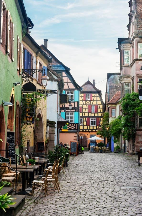 Riquewihr, cidade bonita de Alsácia, França foto de stock royalty free