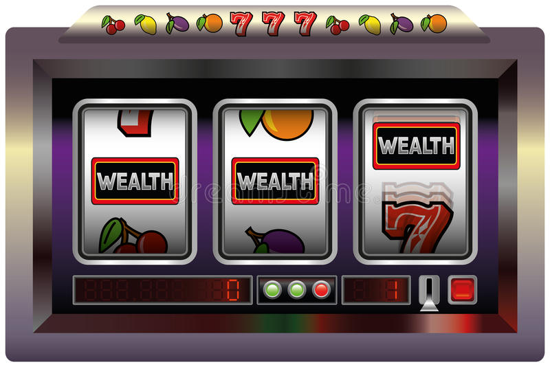 Riqueza do slot machine ilustração stock