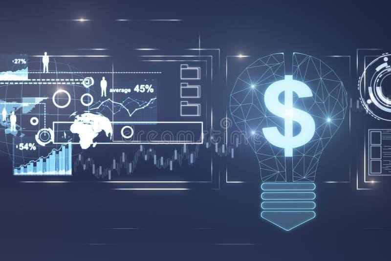 Riqueza, idea, dinero y contexto de la innovación libre illustration