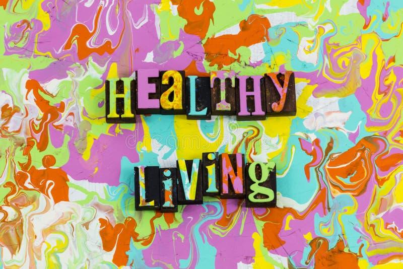 Riqueza viva saudável do bem-estar da saúde ilustração do vetor