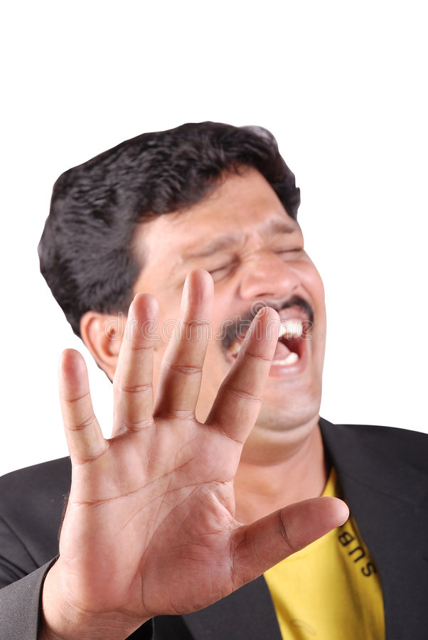 Rire d'homme d'affaires photo libre de droits
