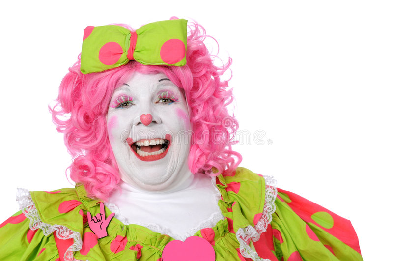 Rire de clown photo libre de droits