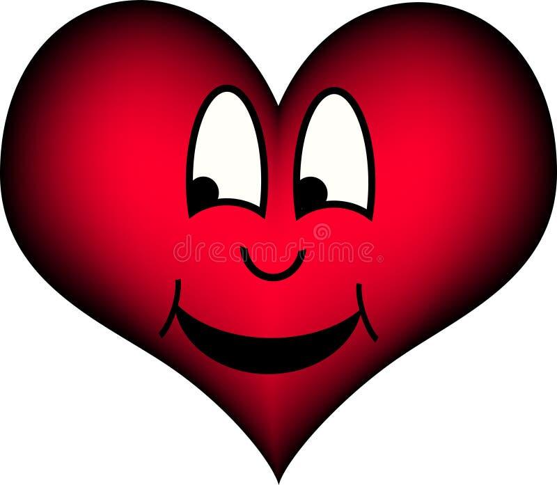 Rire de coeur illustration de vecteur