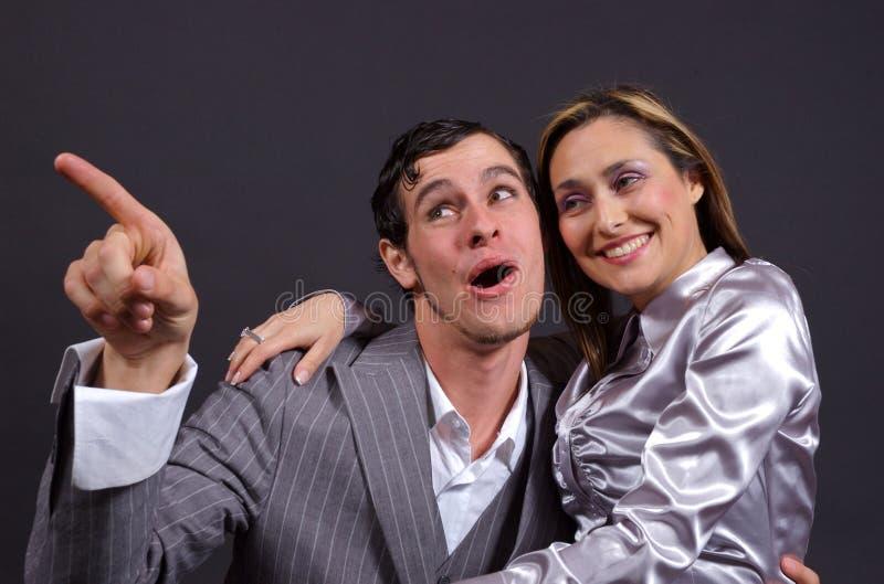 Rire De Couples Photos Stock