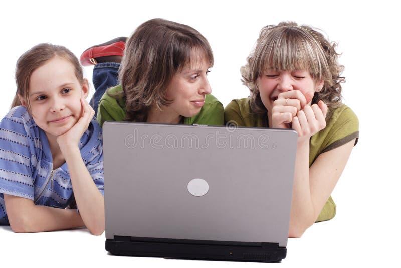 Rire de famille photographie stock libre de droits
