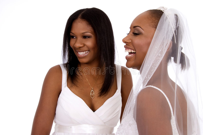 Rire de jour du mariage photographie stock libre de droits