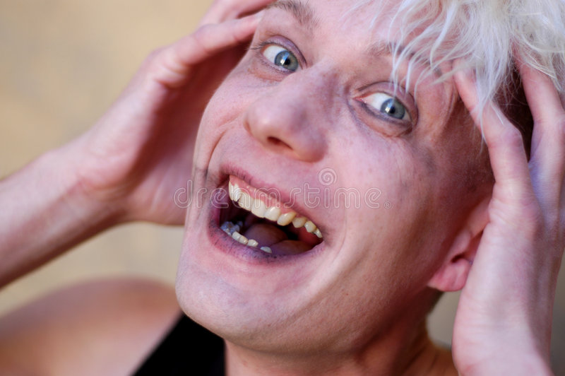 Rire fou image stock