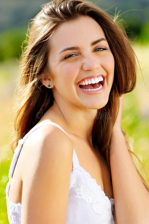 Rire heureux photographie stock libre de droits