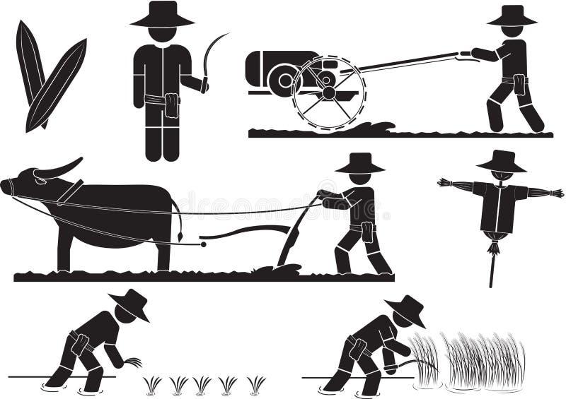 Ris vektor illustrationer