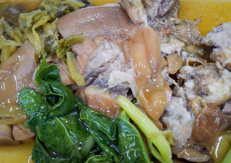 ris med grisköttbenet royaltyfri fotografi