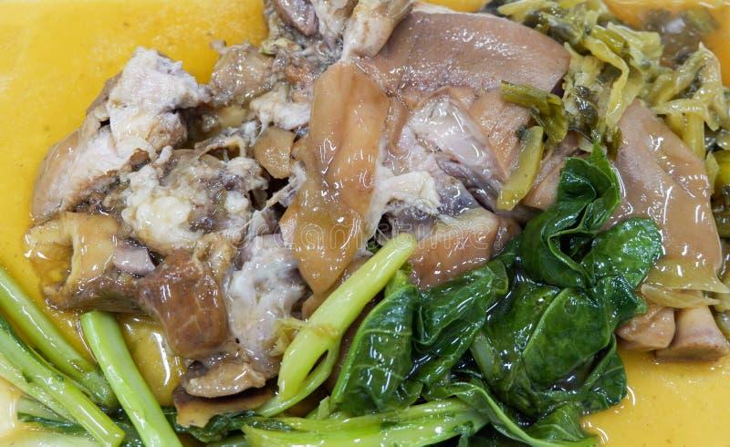 ris med grisköttbenet royaltyfria foton