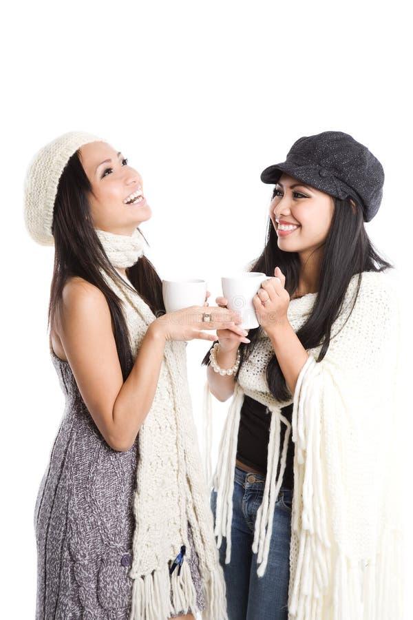 Risa asiática hermosa feliz de las mujeres foto de archivo libre de regalías
