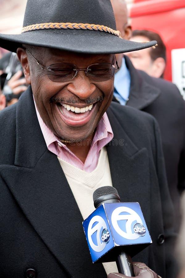 Risa de Herman Cain imagen de archivo libre de regalías