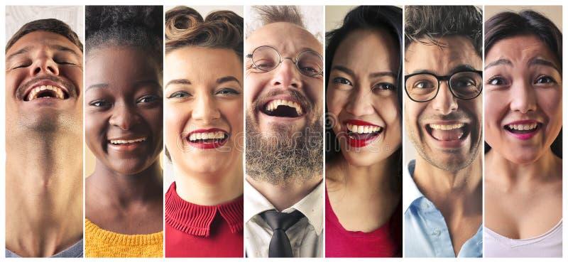 Risa de la gente imágenes de archivo libres de regalías
