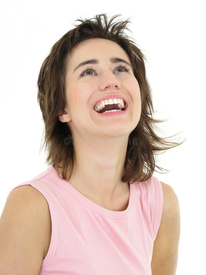 Risa de la muchacha imágenes de archivo libres de regalías