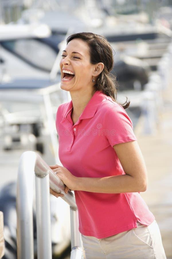Risa de la mujer imágenes de archivo libres de regalías