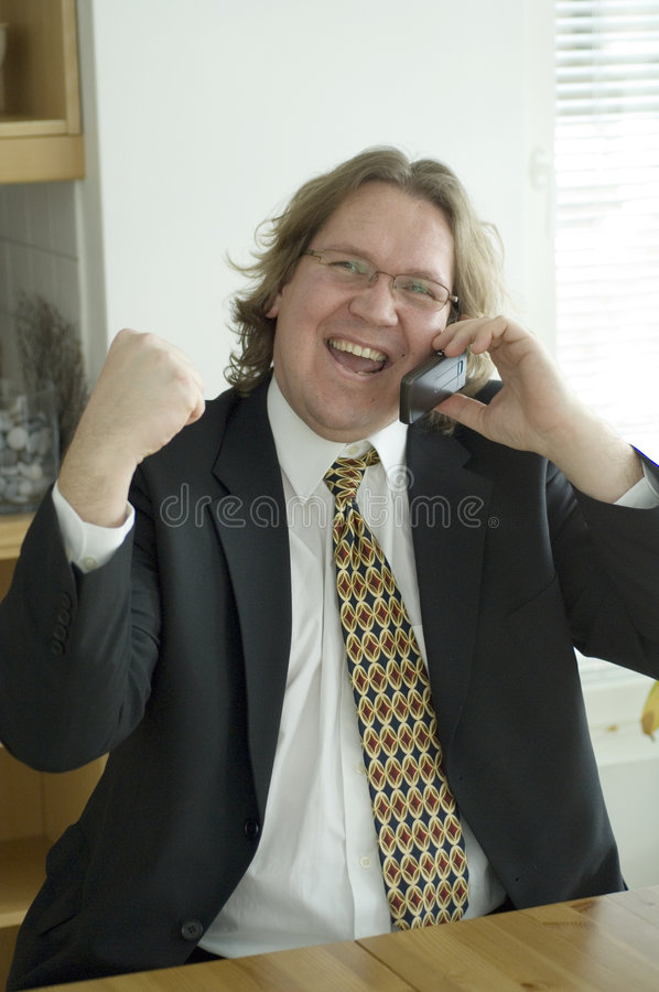 Risa del hombre de negocios fotos de archivo libres de regalías