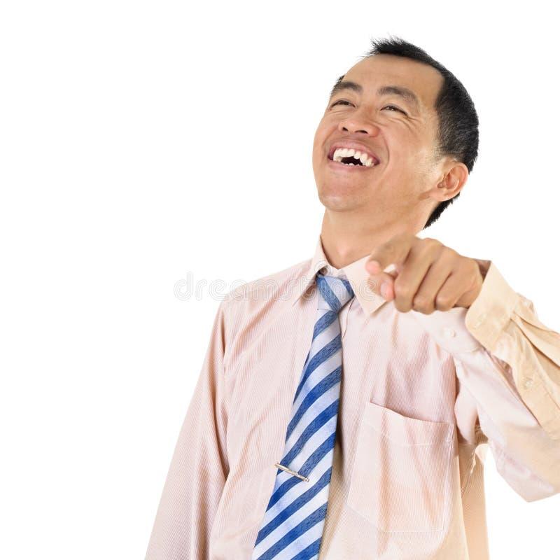 Risa del hombre de negocios maduros fotos de archivo