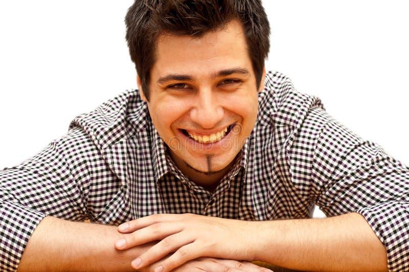 Risa del hombre joven imágenes de archivo libres de regalías