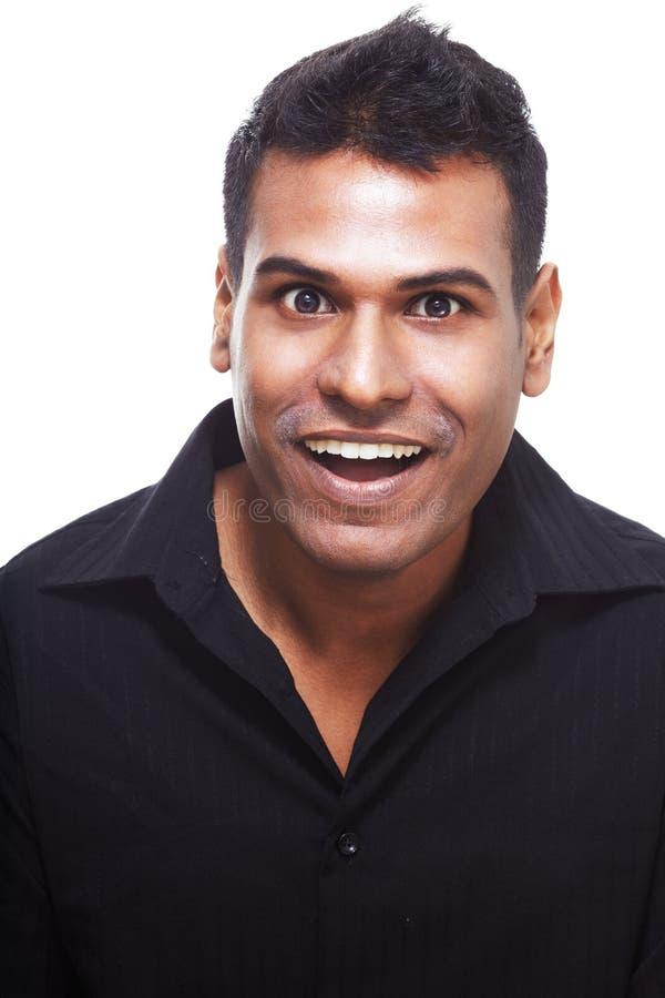 Risa india feliz, hermosa del hombre fotos de archivo