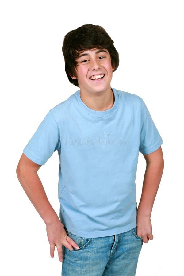 Risa linda del muchacho imagenes de archivo