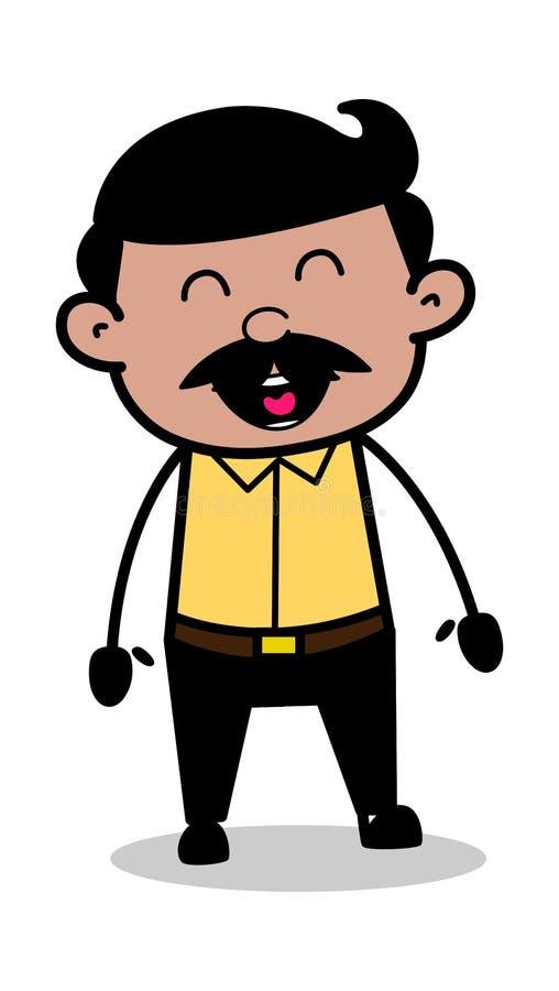 Risa - padre indio Vector Illustration del hombre de la historieta stock de ilustración