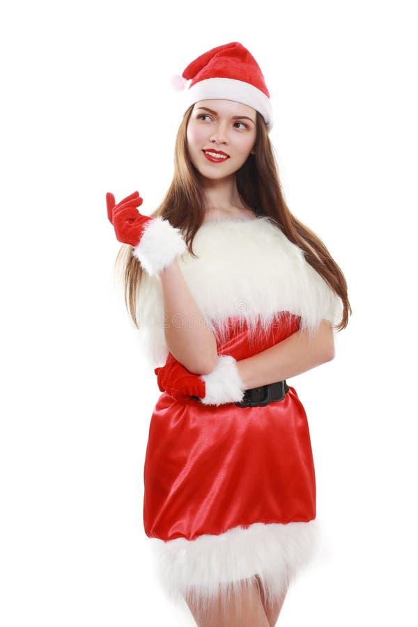 Risa roja del sombrero de Papá Noel fotografía de archivo libre de regalías