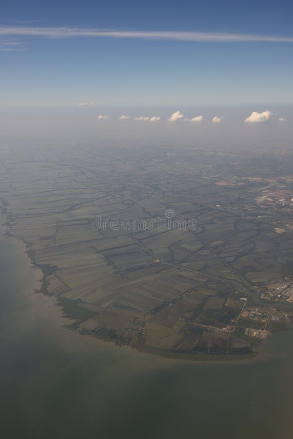 Aeroporto d'avvicinamento Bangkok di Suvarnabhumi immagini stock libere da diritti