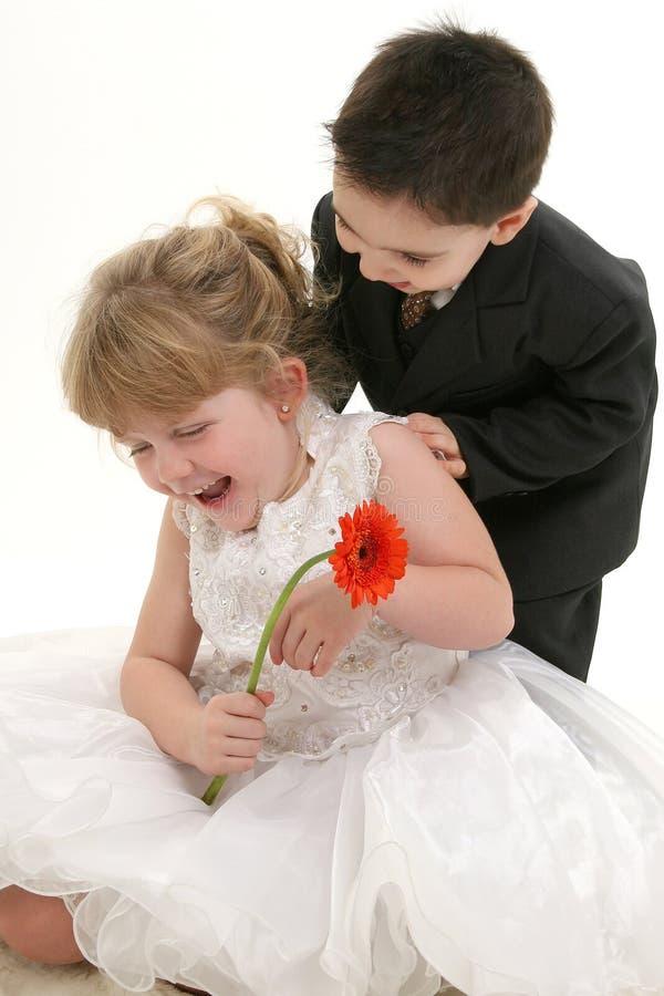 Risata dei bambini fotografie stock