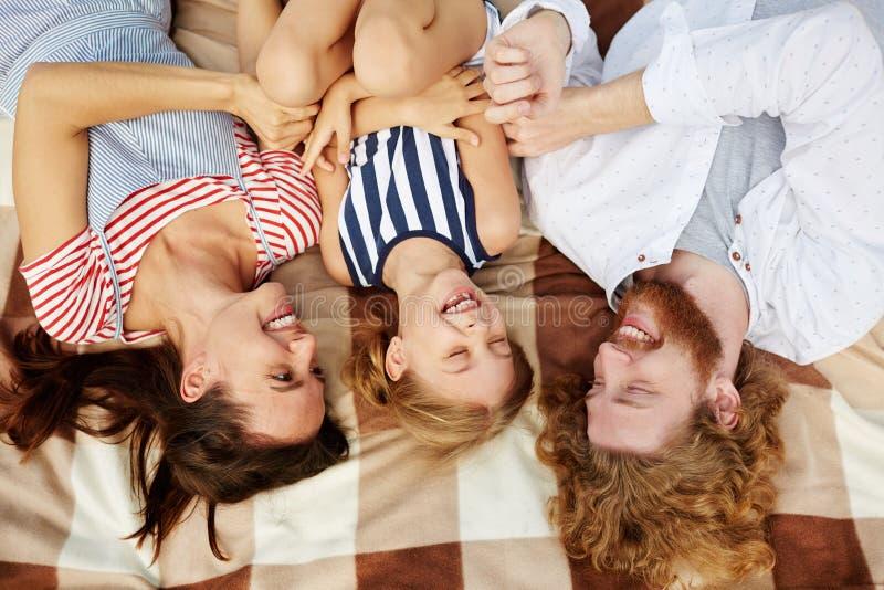 Risata della famiglia fotografia stock libera da diritti