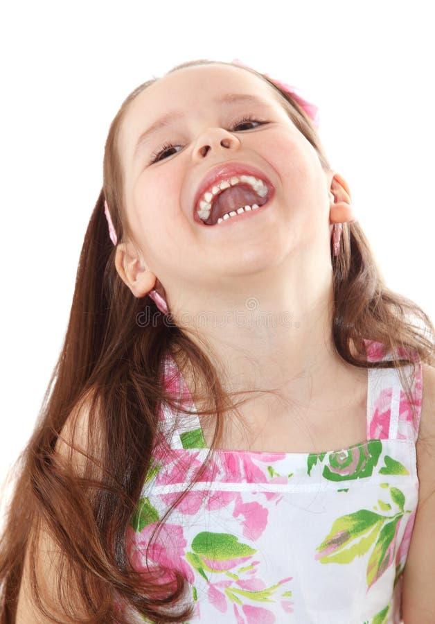 Risata felice della bambina immagini stock
