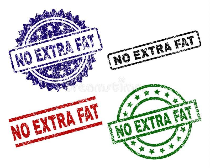 Riscado Textured NENHUNS selos EXTRA do selo do FAT ilustração do vetor