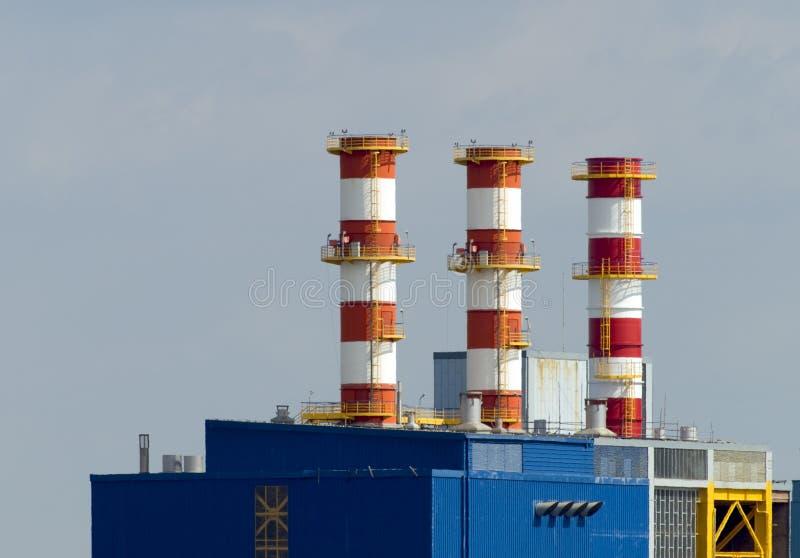 Riscaldamento e centrale elettrica fotografie stock