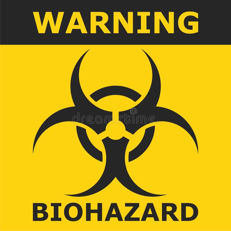 Rischio biologico d'avvertimento, progettazione del manifesto illustrazione di stock