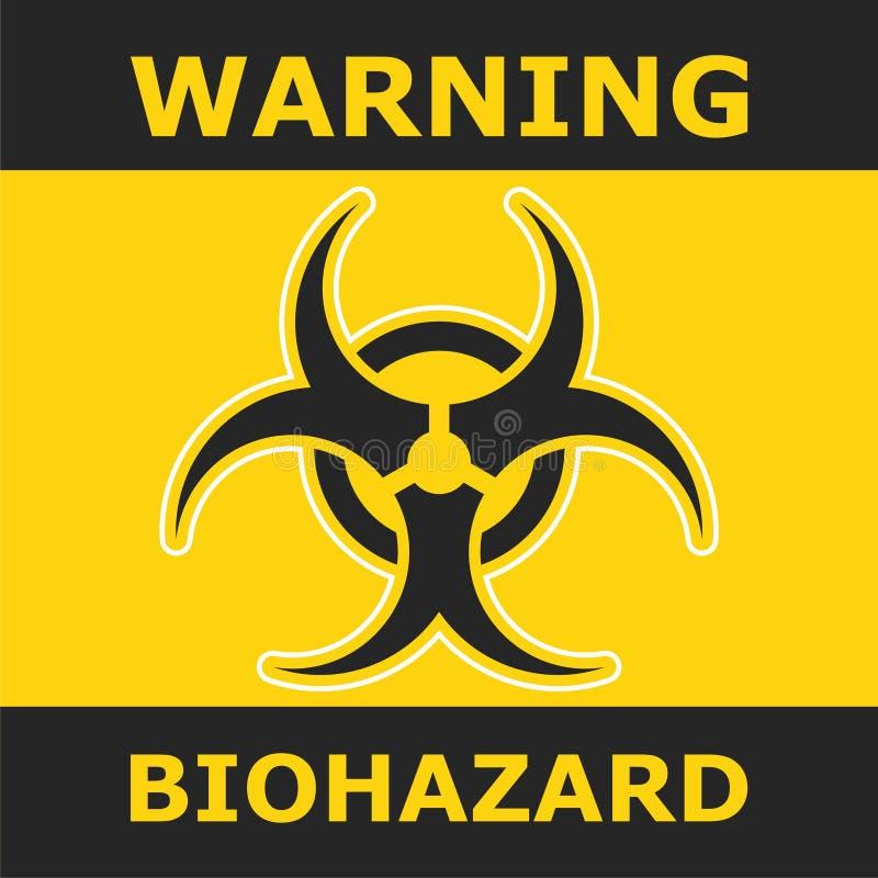 Rischio biologico d'avvertimento, progettazione del manifesto royalty illustrazione gratis