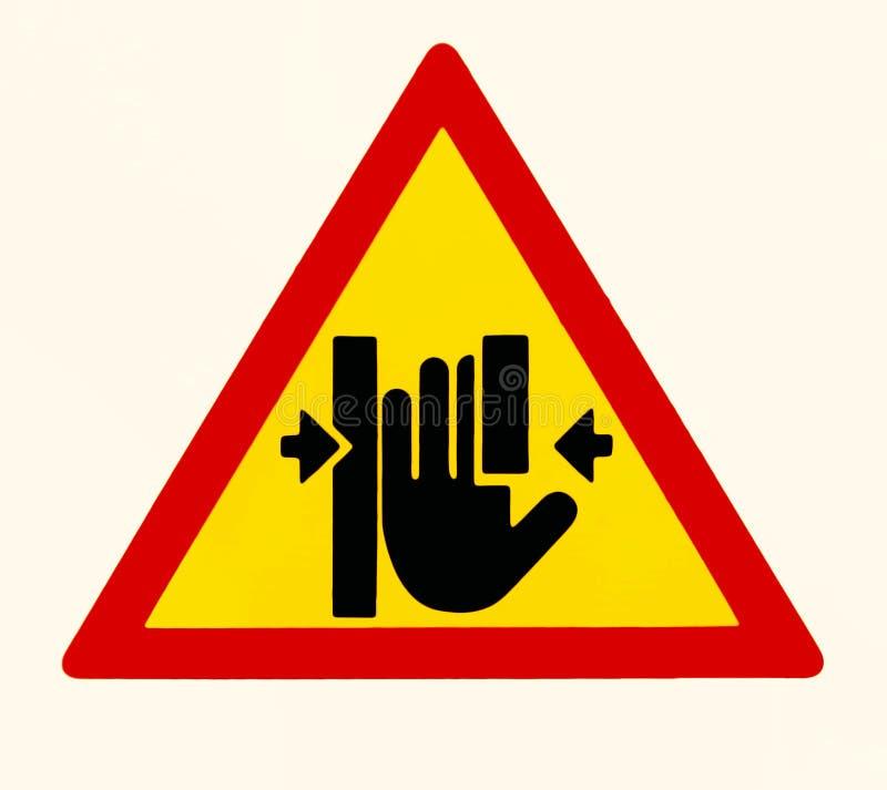 Rischio del punto a composizione costante, segno di cautela Tenga le mani chiaramente illustrazione di stock