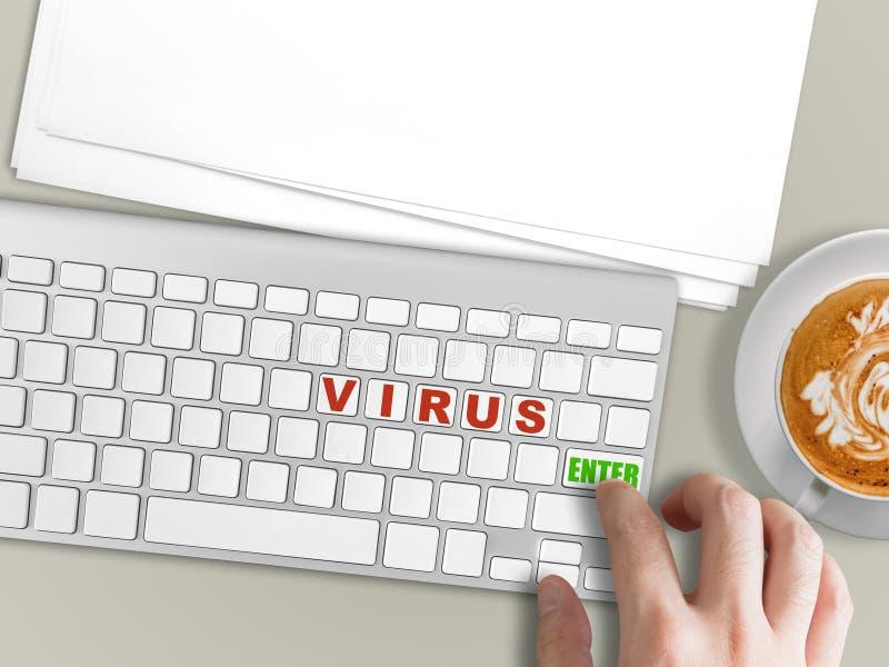 Rischio di concetto del virus informatico fotografia stock libera da diritti