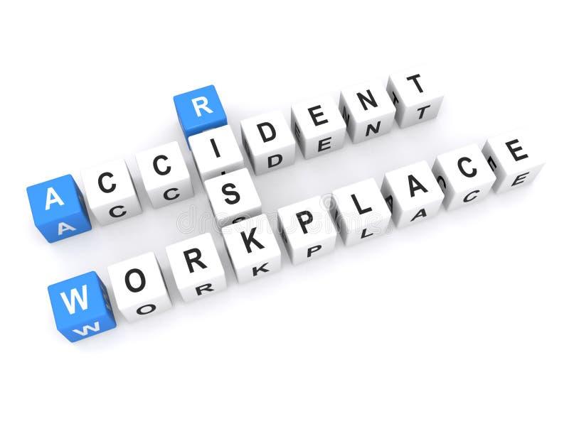 Rischio di incidente in posto di lavoro fotografia stock libera da diritti